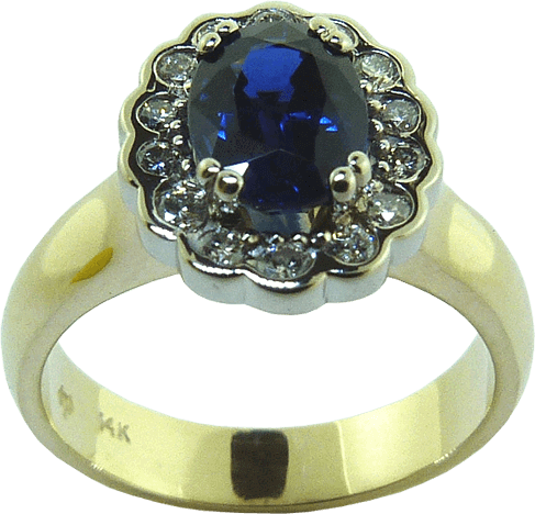 Blue Sapphire Antique Design Ring