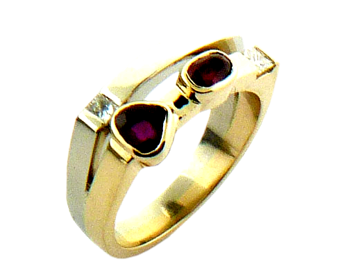 Rubies In Gold Ring