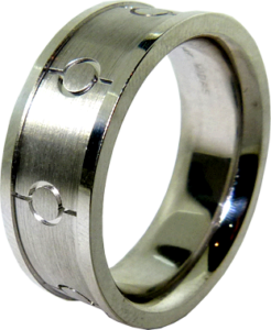Snare Drum inspired Design Men's Wedding Band
