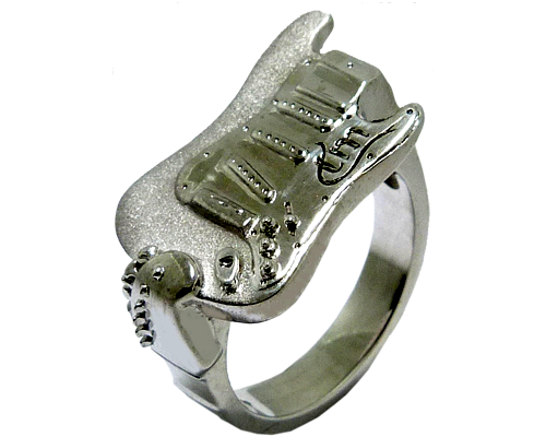 Men's Wedding Band In The Shape Of A Guitar