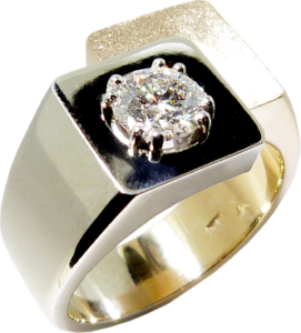 1 ¼ Carat Hearts On Fire® Diamond Two Colour Gold and Platinum Men's Ring