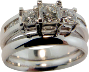Wedding band redesign with dream® cut Hearts On Fire® diamonds
