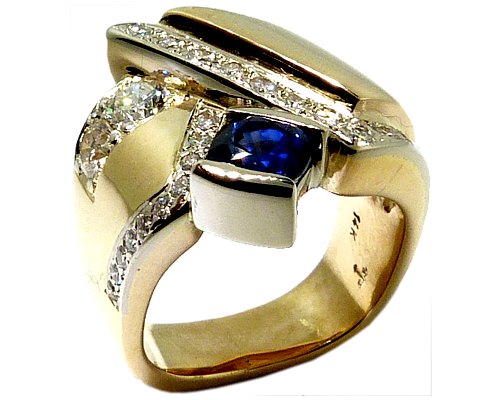 Redesign Of A Custom Ring To Add Diamonds And Sapphires