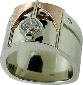 Dream® Cut Hearts On Fire® Diamond with Rose Gold Ring