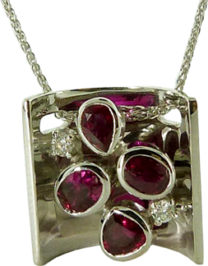 Irregular shaped Ruby Pendant