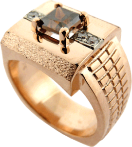 Watch Mimic Ring with Chocolate Diamond