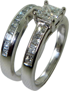 Wedding Band with Cut Out to match Engagement Ring