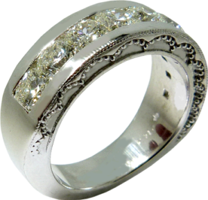 Wedding Band with 9 Dream® Cut Hearts On Fire® Diamonds