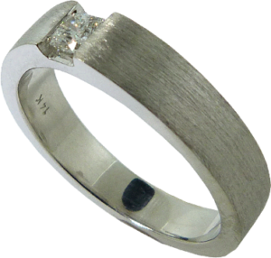 Simple Wedding Band with Hearts On Fire® Dream® Cut Diamond