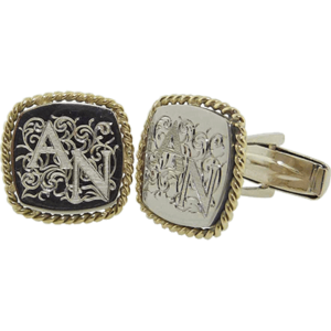 Gold Initials Cufflinks