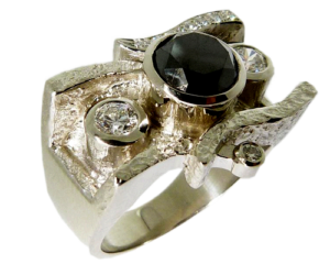 Black Diamond & Hearts On Fire® Ladies Diamond Ring