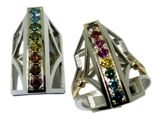 Coloured Diamond Pendant and Ring Set
