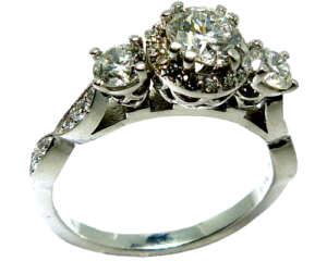 Engagement Ring with Hearts on Fire center diamond