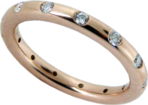 Hearts On Fire® Diamonds in Pink Gold Stackable Ring