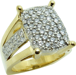 Hearts on Fire Diamond and Gold Ladies Ring