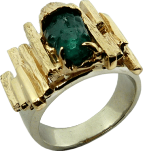 Man Made Emerald Ring