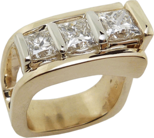Multiple Princess Cut Diamond Ring