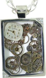 Old Watch repurposed into a Steam Punk styled pendant