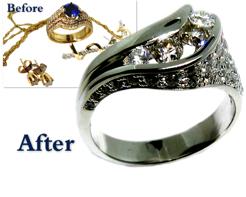 Inherited Jewellery Restyled In Diamond And Gemstone Ring