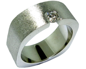Hearts on Fire Dream cut diamond men's textured ring