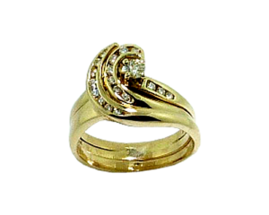 Wedding Band with a unique curl