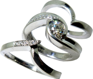 Wedding or Anniversary band to fit diamond engagement ring