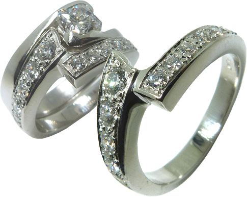 Wedding Band To Match Square Solitaire Diamond Engagement Ring