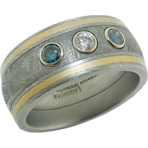 Lashbook Meteorite Wedding Band