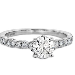 Lorelei Floral Solitaire Engagement Ring by Hearts on Fire