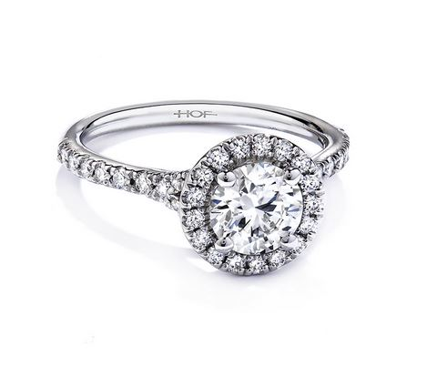 Transcend Halo Engagement Ring by Hearts on Fire