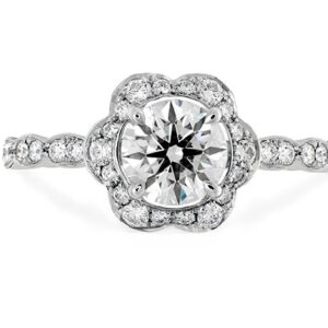 Lorelei Floral Halo Engagement Ring by Hearts on Fire