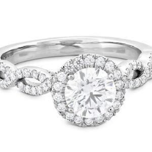 Destiny Lace Diamond Intensive Halo Engagement Ring by Hearts on Fire in white gold