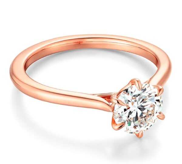 Camilla 6 prong solitaire engagement ring by Hearts on Fire is available in 18 karat yellow and white gold as well as platinum. This style is also available with 4 prongs.