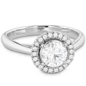 Destiny Halo Engagement Ring by Hearts on Fire