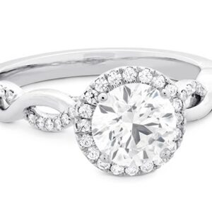 Destiny Lace Halo Engagement Ring by Hearts on Fire
