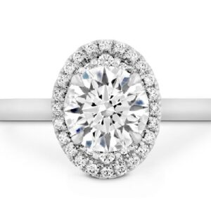Juliette Oval Halo Engagement Ring by Hearts on Fire