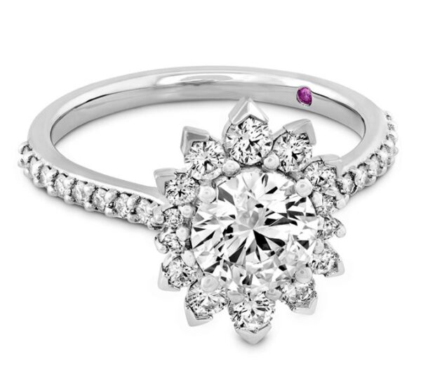 Behati Say It Your Way Oval Engagement Ring by Hayley Paige for Hearts on Fire