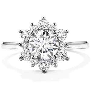 Lady Di Halo Engagement Ring by Hearts on Fire