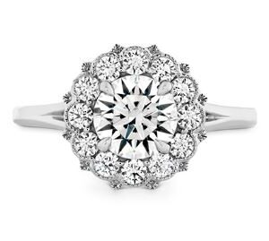 Liliana Halo Engagement Ring by Hearts on Fire