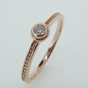 Rose gold bezel stacking ring