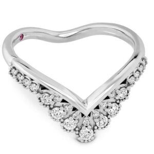 The Behati Silhouette Band by Hayley Paige for Hearts on Fire is a stunning ring that features 0.23ctw of ideal cut Hearts on Fire diamonds.