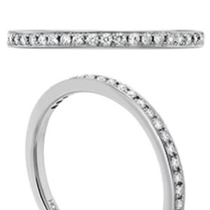 18 karat white gold Signature Solitaire Engagement Ring by Hearts on Fire.