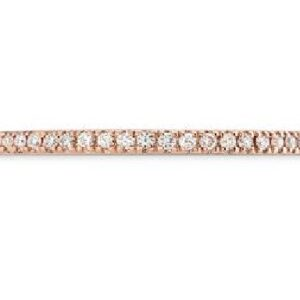 18 Karat rose gold Hearts On Fire eternity band totaling 0.22 carats of diamonds, I/J, SI. Also available in yellow and white gold.