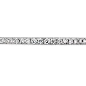 Platinum Lorelei Diamond Band by Hearts On Fire pave set with 25 ideal cut, round brilliant cut diamonds by Hearts On Fire, 0.13 carat total weight, VS-SI, G/H. Also available in 18K white, yellow or rose gold.