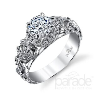 Hera Bridal Halo Engagement Ring by Parade