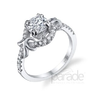 Lyria Bridal Halo Engagement Ring by Parade