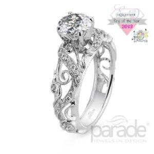 Hera Bridal Solitaire Engagement Ring by Parade
