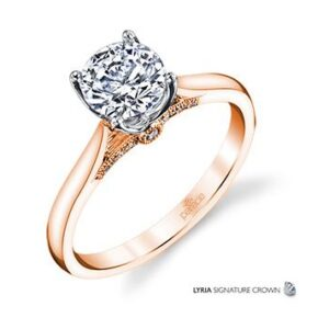New Classic Bridal Solitaire Engagement Ring by Parade in 18K Rose Gold
