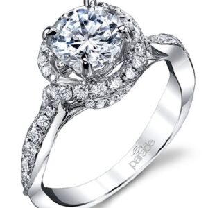 Hemera Bridal Halo Engagement Ring by Parade