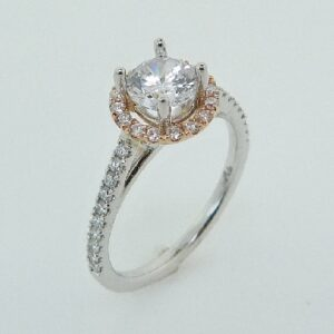 New Classic Bridal Halo Engagement Ring by Parade